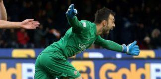 """Ex Grifoni: Brignoli """"gela"""" Gattuso. Un gol dell'ex portiere del Grifo regala il primo storico punto al Benevento in Serie Acontro il Milan di """"ringhio"""""""