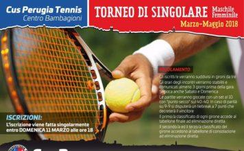 ennis, Cus Perugia: al via il torneo singolare