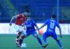 Di Carmine non perde il vizio, la difesa vacilla con la capolista. Il bomber firma il gol numero 22 e va vicino alla doppietta, Belmonte e la retroguardia fanno fatica