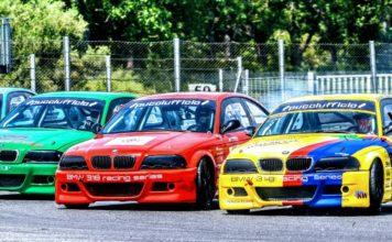 La BMW 318 racing series anima l'autodromo dell'Umbria. A Magione spazio anche al Campionato Italiano Bicilindriche e al Trofeo Italia Storico