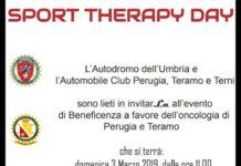 """""""Sport Therapy Day"""": ecco la presentazione dell'evento. Sport e solidarietà all'Autodromo dell'Umbria. Lunedì 25 la conferenza stampa per illustrare la manifestazione"""