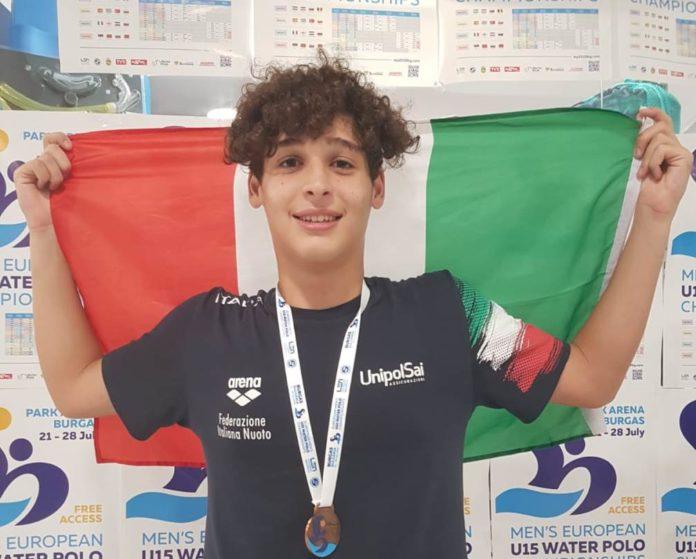 Lrn Perugia: Cammarota di bronzo agli europei under 15. Il pallanuotista della Libertas sul podio della manifestazione di Burgas con la nazionale italiana di categoria
