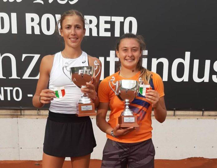 Junior Tennis: Matilde Paoletti campione Under 16. L'atleta perugina conquista la prima piazza nella manifestazione di Rovereto in doppio con Beatrice Ricci