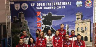 """Il Cus Perugia fa incetta di medaglie nel karate. Agli """"Open"""" di San Marino i ragazzi di Arena raccolgono un oro, quattro argenti e due bronzi"""
