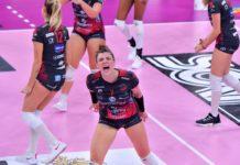 Finalmente Bartoccini: Brescia schiantata 3-0. Prima vittoria nella massima serie per le ragazze di Bovari. Montibeller top scorer con 27 punti