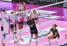 Nulla da fare per la Bartoccini: Novara fa valere la classifica. Le piemontesi, seconda forza del campionato, schiacciano per 3-0 le perugine