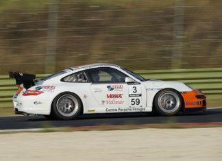 Porsche GT: i perugini a punti a Vallelunga. Buone le prove di Regni e Patumi nel circuito romano
